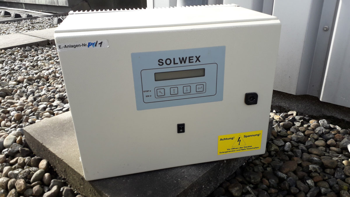 Der alte SOLWEX Wechselrichter