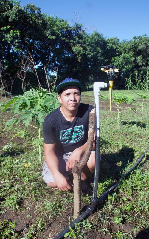 Francisco mit dem Beregnungssystem